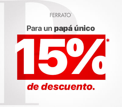5990ba77 Promoción válida en mx.ferrato.com del 04 al 09 de junio del 2019. 15% de descuento  en productos seleccionados de la tienda en línea.